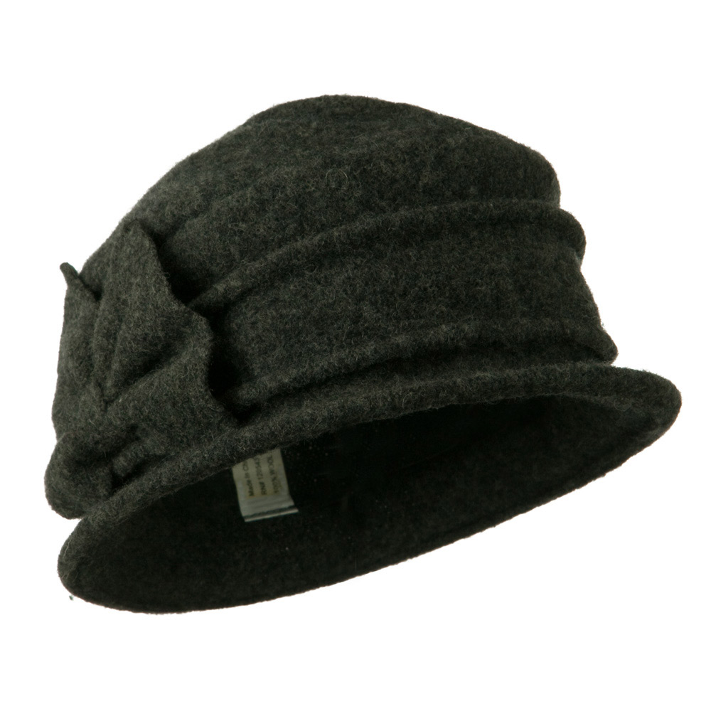 2 Pleat Detailed Boiled Wool Bucket Hat - Dark Grey - Hats and Caps Online Shop - Hip Head Gear