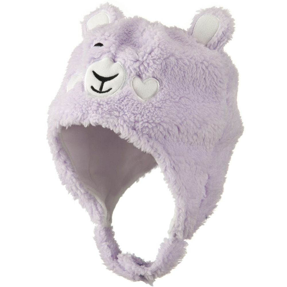 Kids 2014 Fluffy Animal Hat - Lavender - Hats and Caps Online Shop - Hip Head Gear