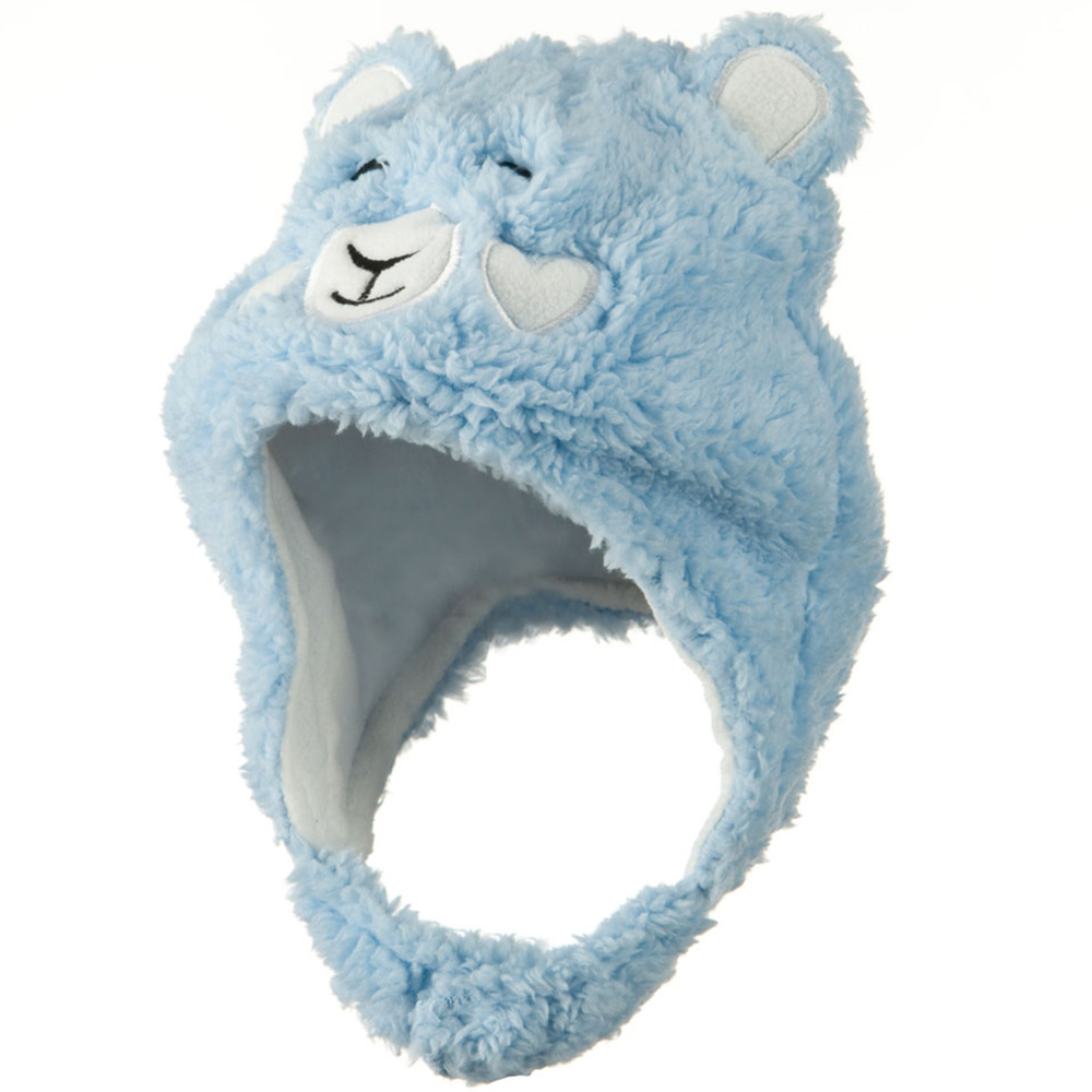 Kids 2014 Fluffy Animal Hat - Light Blue - Hats and Caps Online Shop - Hip Head Gear