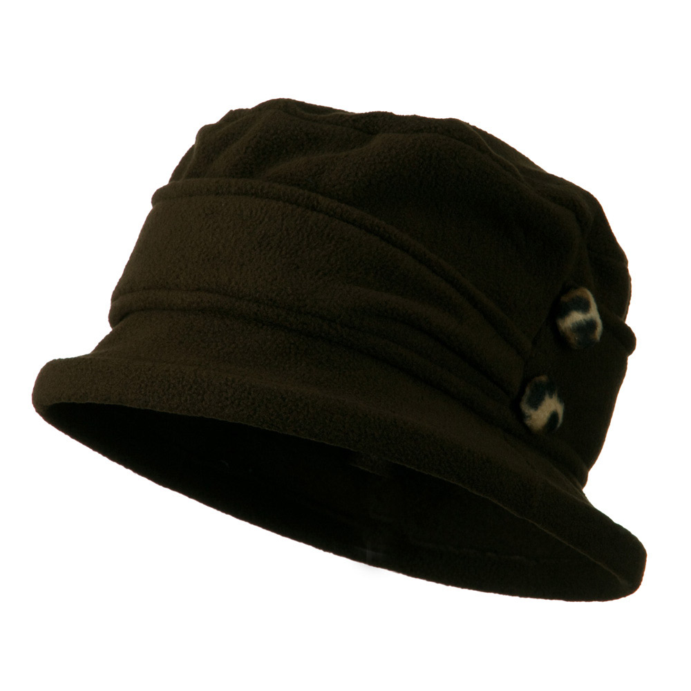 2 Button Women's Fleece Cap - Brown - Hats and Caps Online Shop - Hip Head Gear