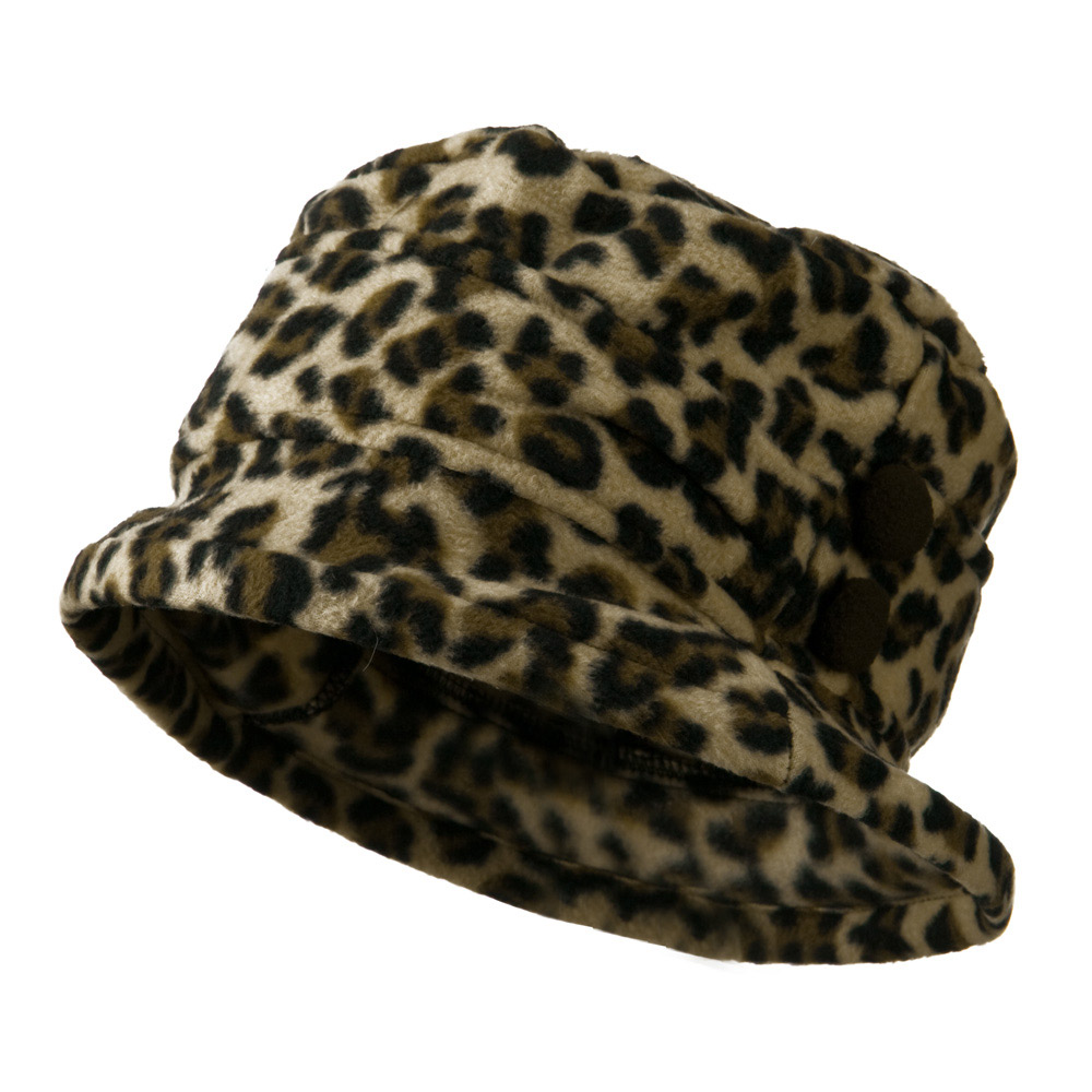 2 Button Women's Fleece Cap - Cheetah - Hats and Caps Online Shop - Hip Head Gear