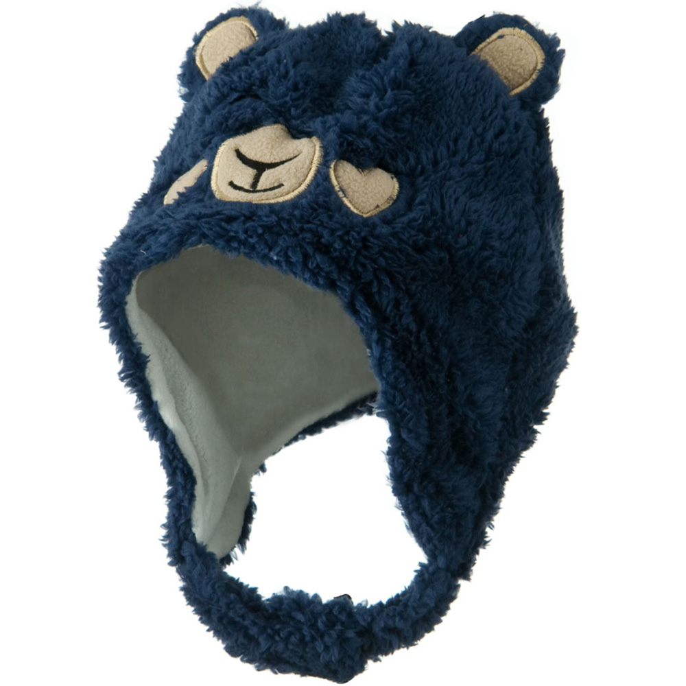 Kids 2014 Fluffy Animal Hat - Navy - Hats and Caps Online Shop - Hip Head Gear