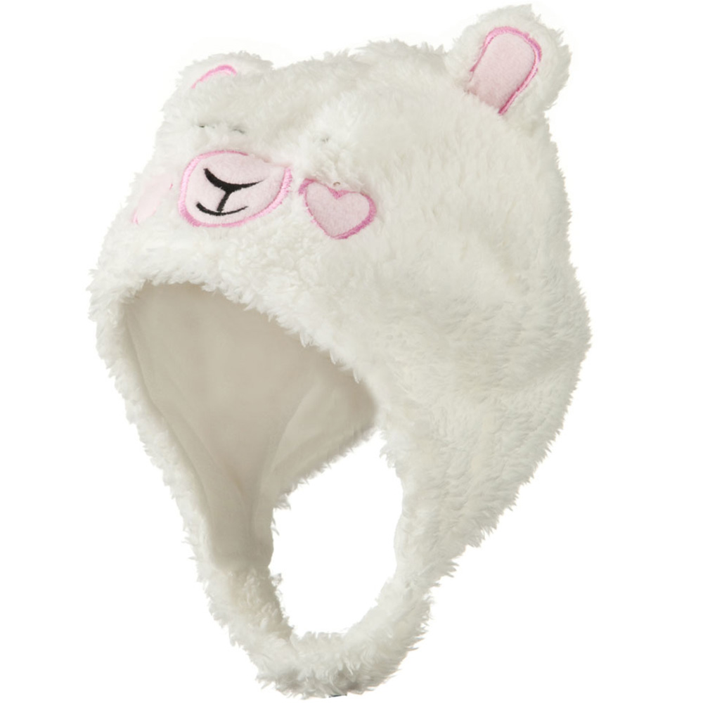 Kids 2014 Fluffy Animal Hat - White - Hats and Caps Online Shop - Hip Head Gear