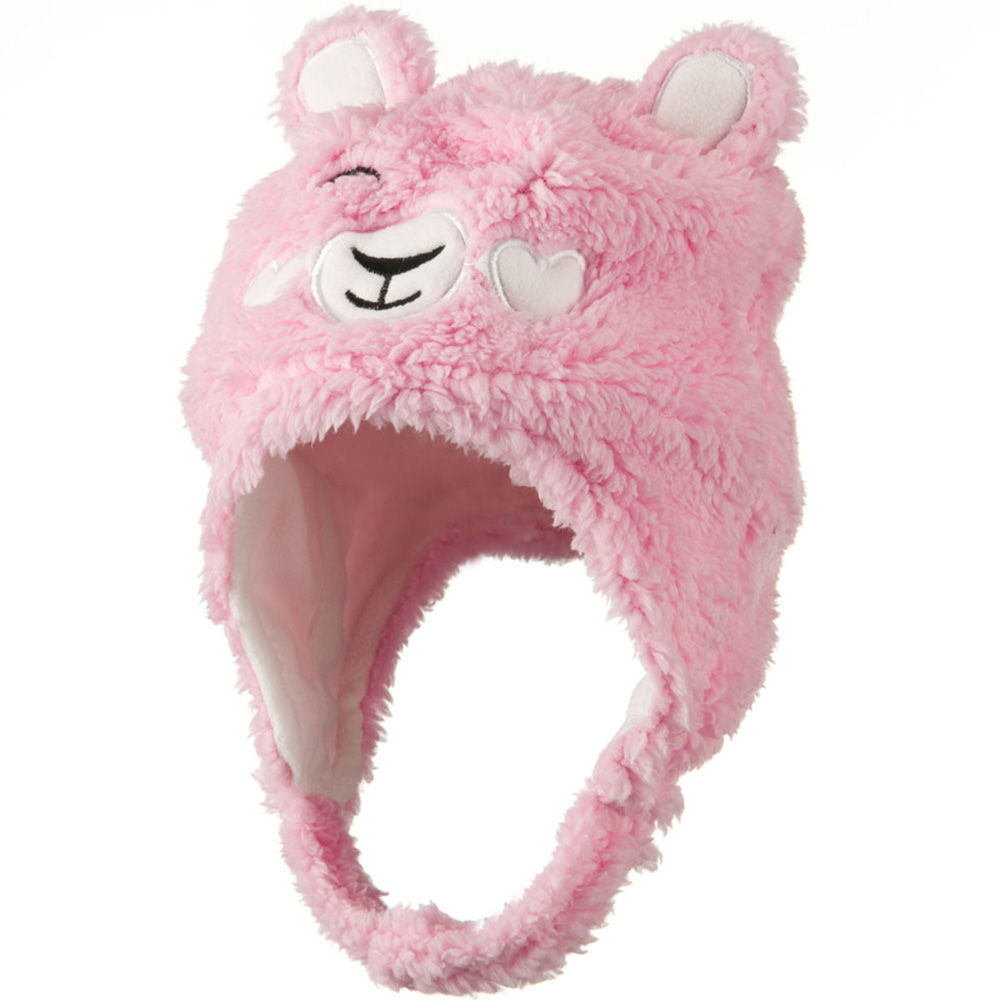 Kids 2014 Fluffy Animal Hat - Pink - Hats and Caps Online Shop - Hip Head Gear