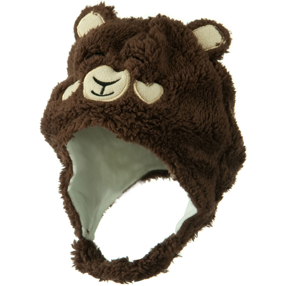 Kids 2014 Fluffy Animal Hat - Brown - Hats and Caps Online Shop - Hip Head Gear