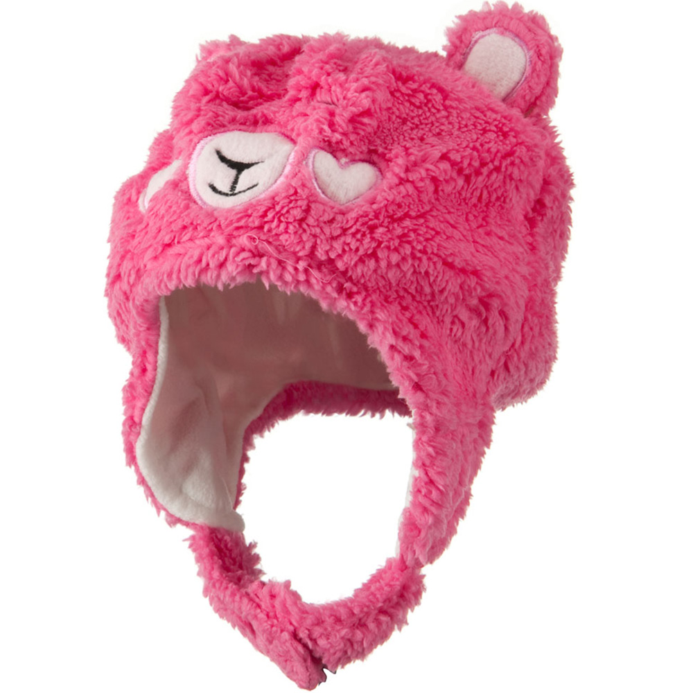 Kids 2014 Fluffy Animal Hat - Hot Pink - Hats and Caps Online Shop - Hip Head Gear