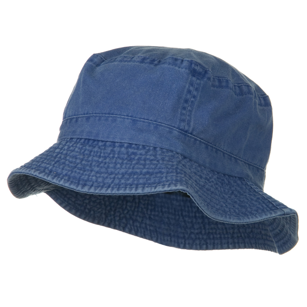 2 Inch Brim Pigment Dyed Cotton Bucket - Navy - Hats and Caps Online Shop - Hip Head Gear