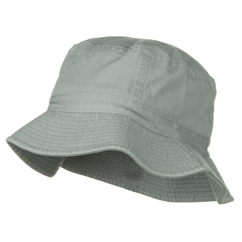 2 Inch Brim Pigment Dyed Cotton Bucket - Light Grey - Hats and Caps Online Shop - Hip Head Gear