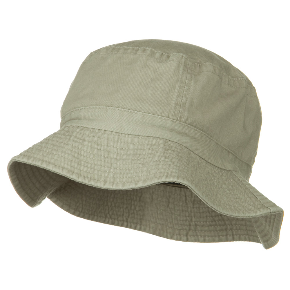 2 Inch Brim Pigment Dyed Cotton Bucket - Khaki - Hats and Caps Online Shop - Hip Head Gear