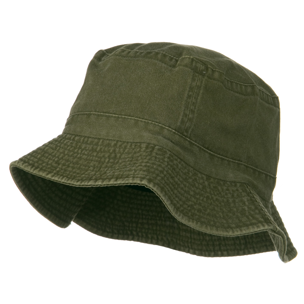 2 Inch Brim Pigment Dyed Cotton Bucket - Olive - Hats and Caps Online Shop - Hip Head Gear