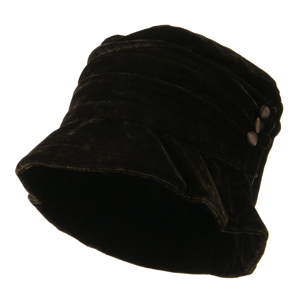 3 Button Bucket Hat - Brown - Hats and Caps Online Shop - Hip Head Gear