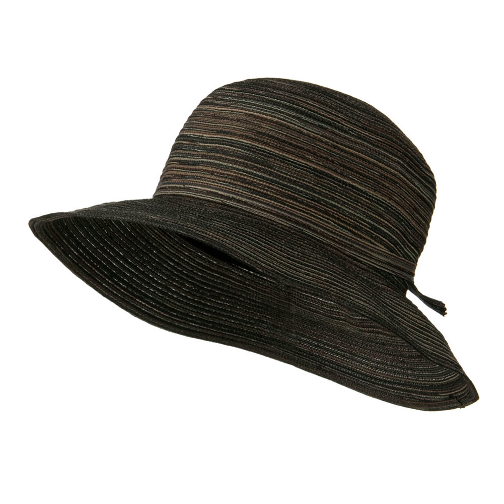 3 Inch Poly Braid Flat Brim Hat - Black - Hats and Caps Online Shop - Hip Head Gear