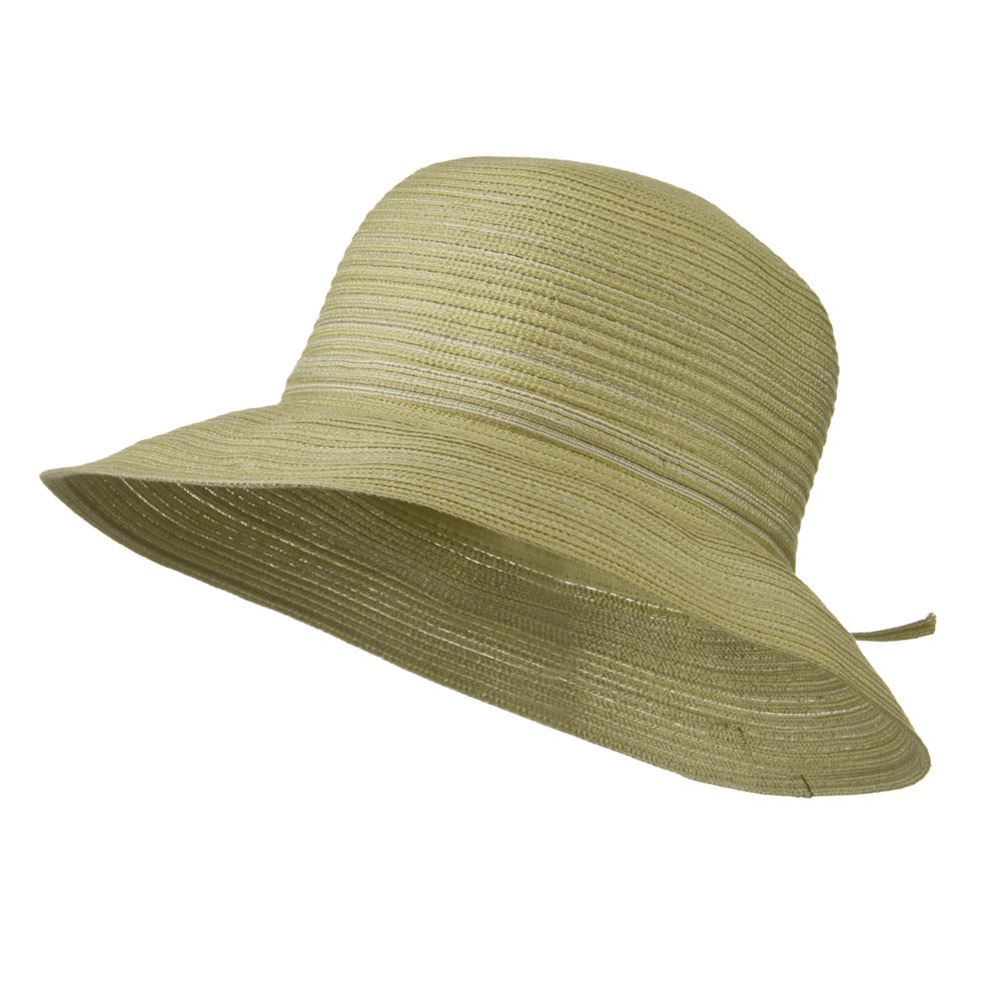 3 Inch Poly Braid Flat Brim Hat - Natural - Hats and Caps Online Shop - Hip Head Gear
