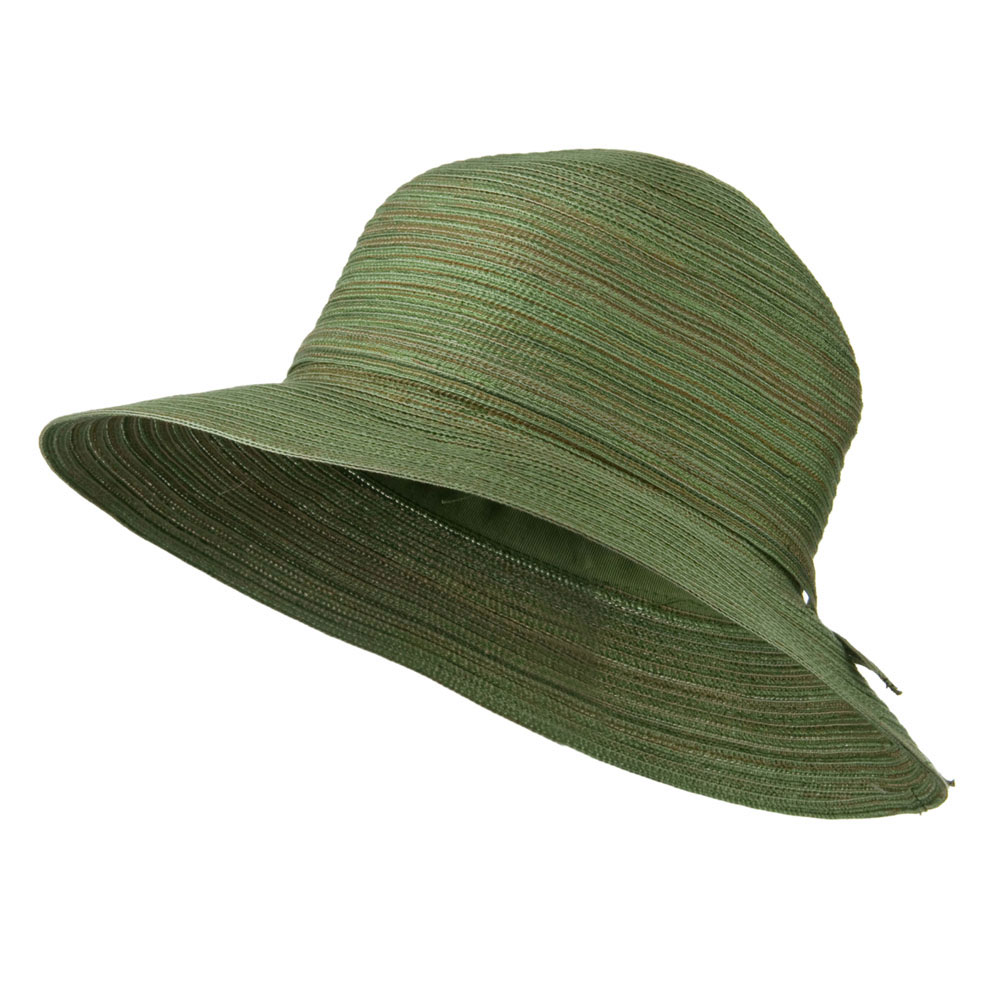 3 Inch Poly Braid Flat Brim Hat - Sage - Hats and Caps Online Shop - Hip Head Gear