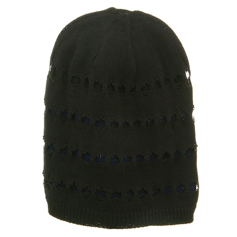 4 Holes New Vintage Beanie - Charcoal - Hats and Caps Online Shop - Hip Head Gear