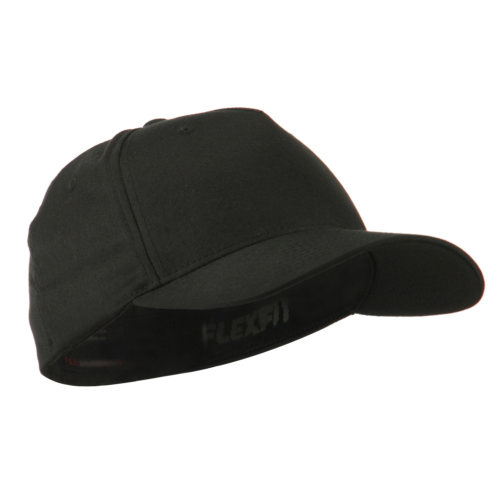 5 Panel Flexfit Cap-Black - Hats and Caps Online Shop - Hip Head Gear