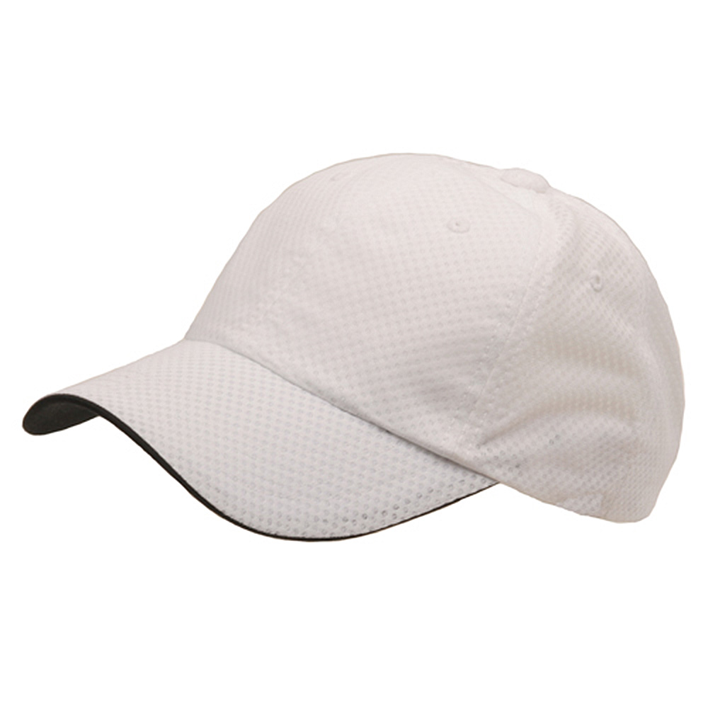 6 Panel Athletic Mesh Cap-White - Hats and Caps Online Shop - Hip Head Gear