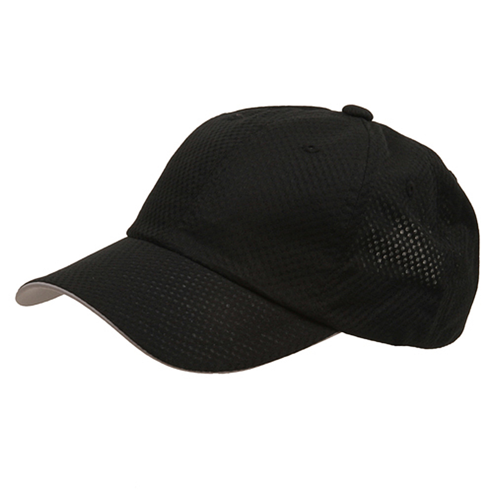 6 Panel Athletic Mesh Cap-Black - Hats and Caps Online Shop - Hip Head Gear