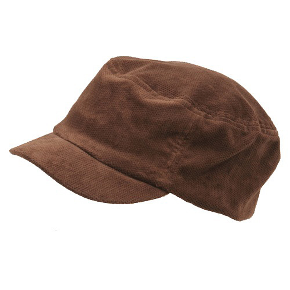 Corduroy Fitted Engineer Cap-Brown - Hats and Caps Online Shop - Hip Head Gear