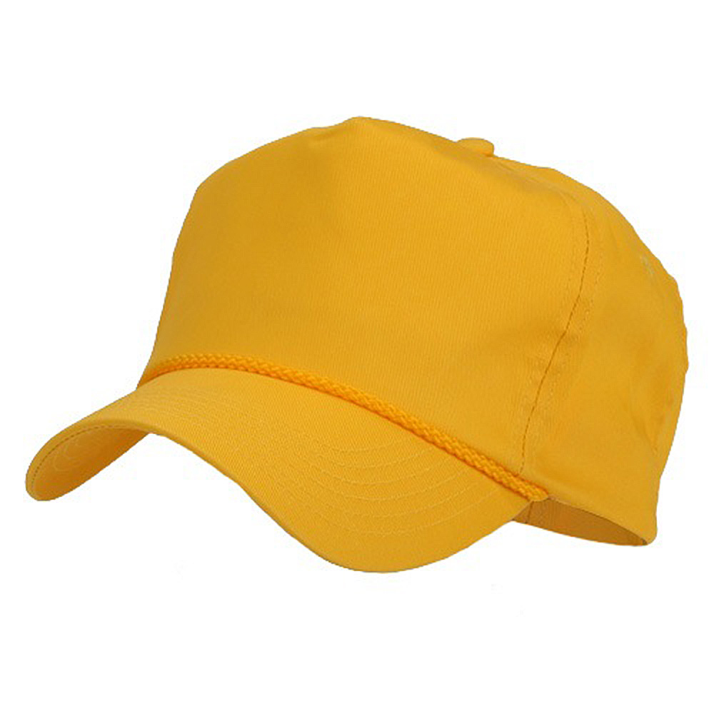 fe42ac9cb3e Cotton Twill Golf Cap - Gold