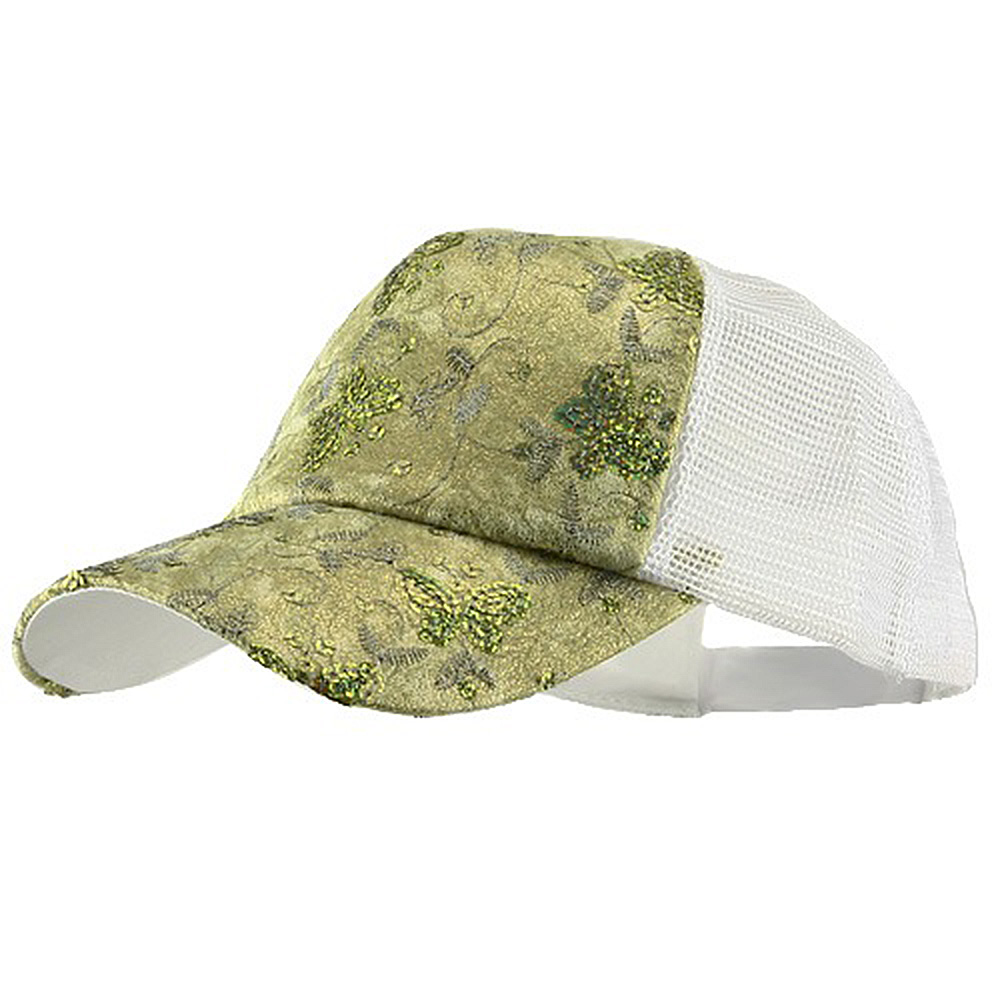 5 Panel Butterfly Sequins Mesh Cap - Mint - Hats and Caps Online Shop - Hip Head Gear