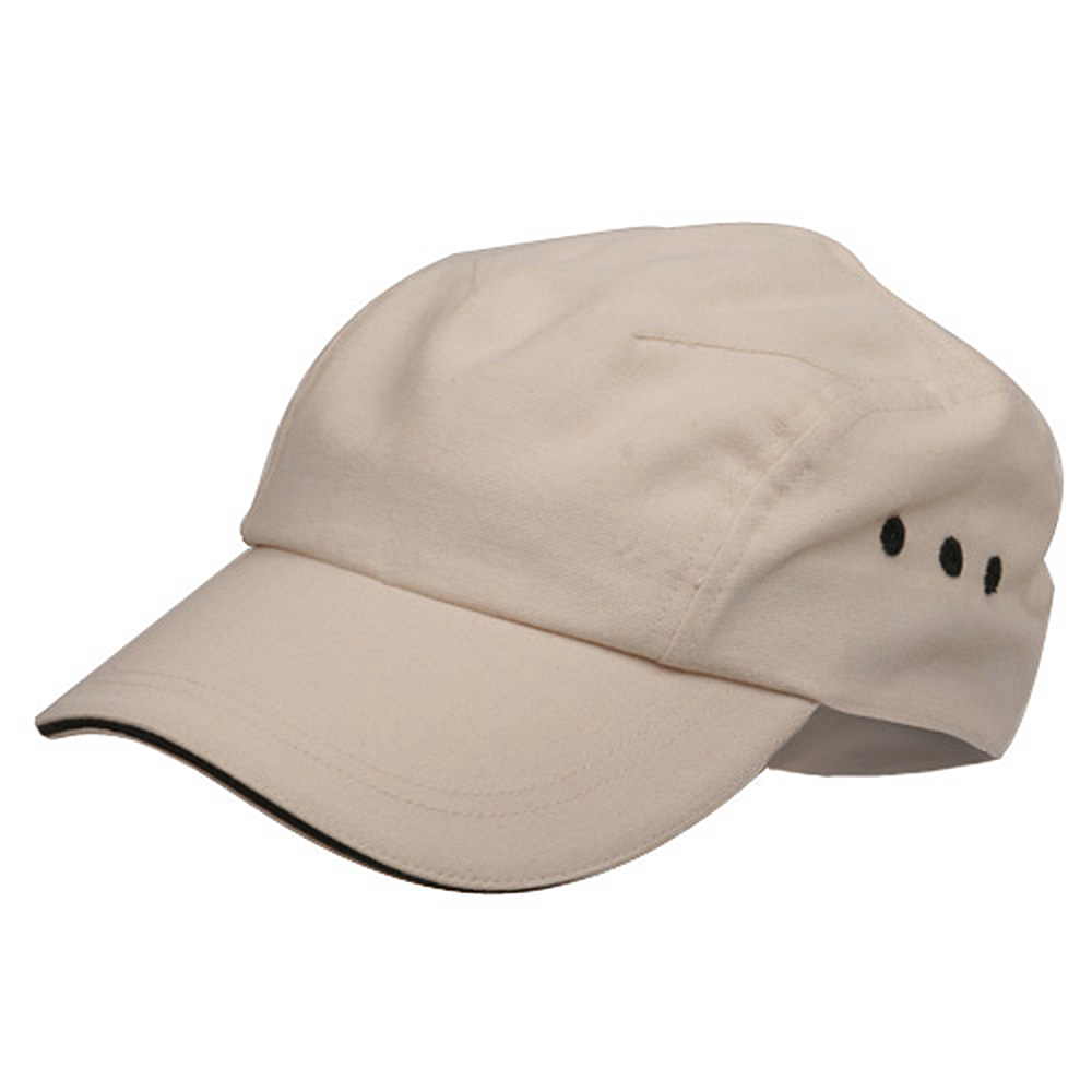 Brushed Canvas Bicycle Caps-Natural Black - Hats and Caps Online Shop - Hip Head Gear