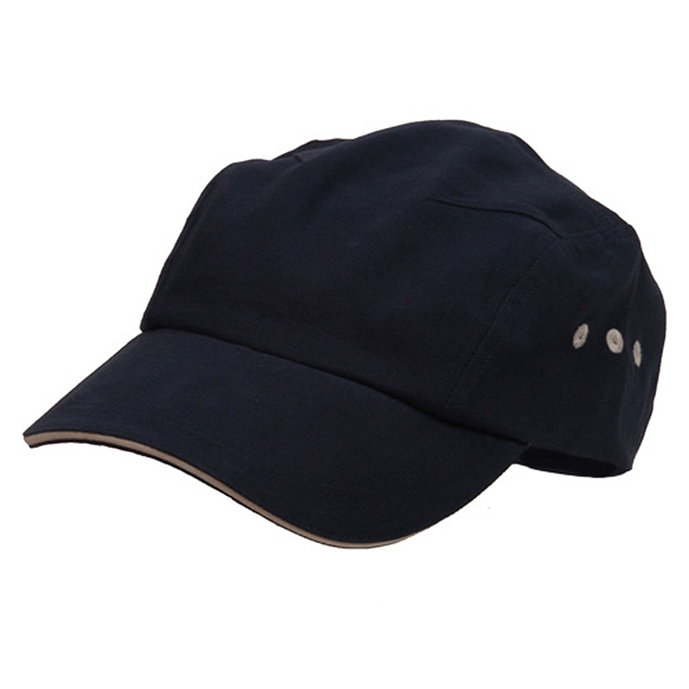 Brushed Canvas Bicycle Caps-Navy Natural - Hats and Caps Online Shop - Hip Head Gear