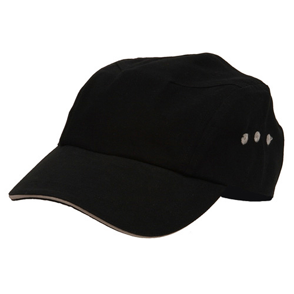 Brushed Canvas Bicycle Caps-Black Natural - Hats and Caps Online Shop - Hip Head Gear