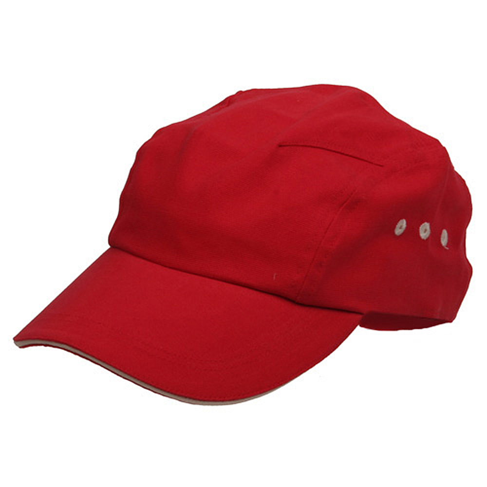 Brushed Canvas Bicycle Caps-Red Natural - Hats and Caps Online Shop - Hip Head Gear