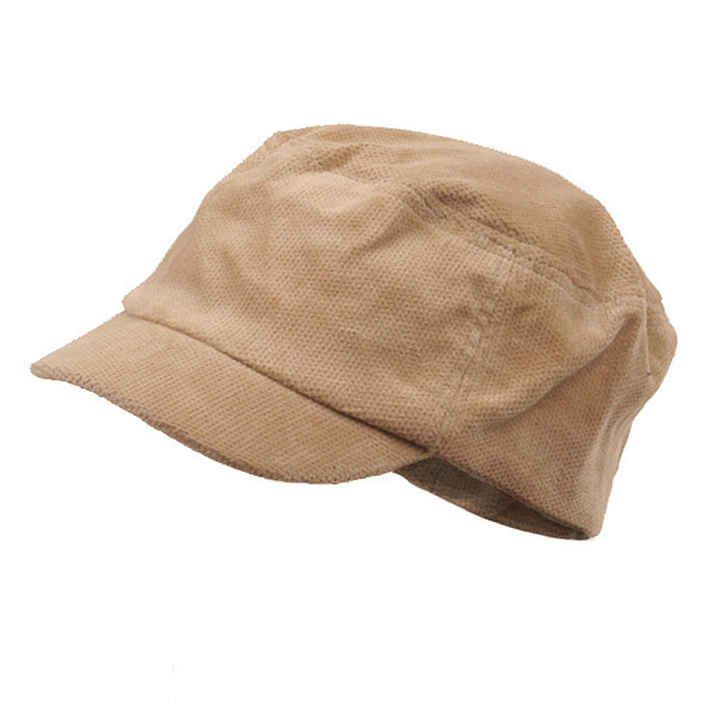 Corduroy Fitted Engineer Cap-Khaki - Hats and Caps Online Shop - Hip Head Gear