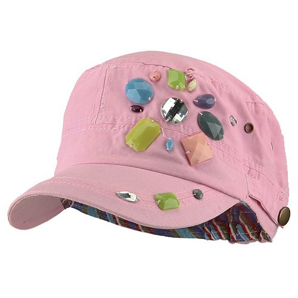 Scattered Colored Gem Cap - Pink - Hats and Caps Online Shop - Hip Head Gear
