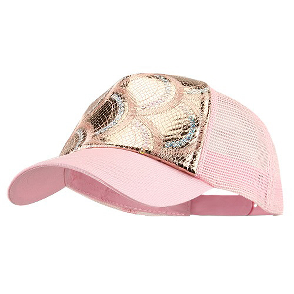 5 Panel Metallic Sequin Mesh Cap - Pink - Hats and Caps Online Shop - Hip Head Gear