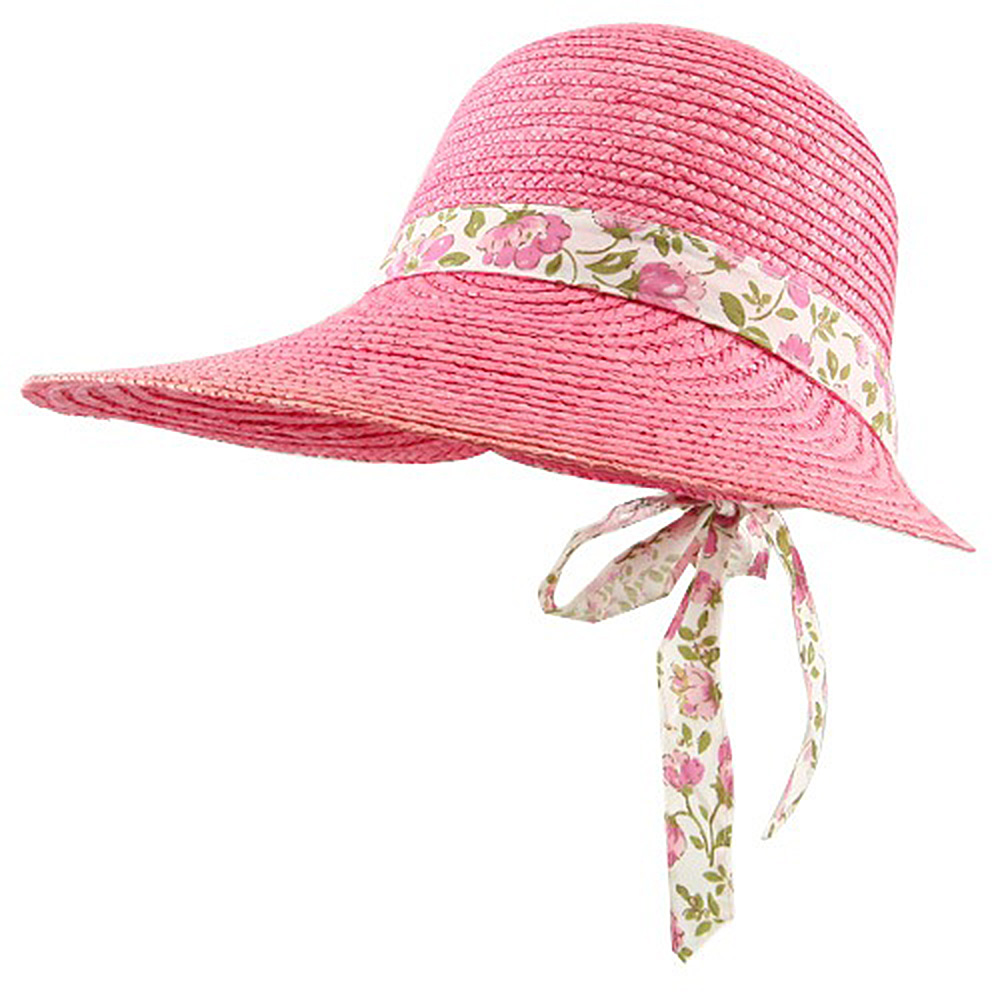 Big Brim Sewn Wheat Hat - Pink - Hats and Caps Online Shop - Hip Head Gear