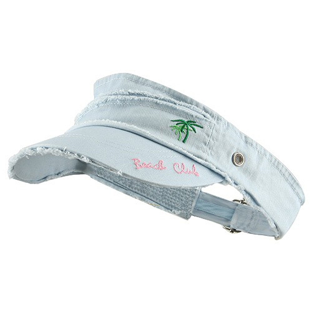 Beach Club Frayed Visor - Blue - Hats and Caps Online Shop - Hip Head Gear