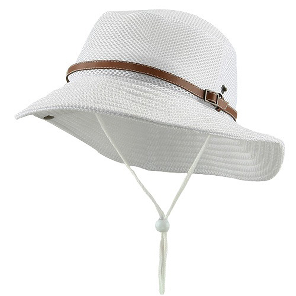 Deluxe Mesh Bucket Hat-White - Hats and Caps Online Shop - Hip Head Gear