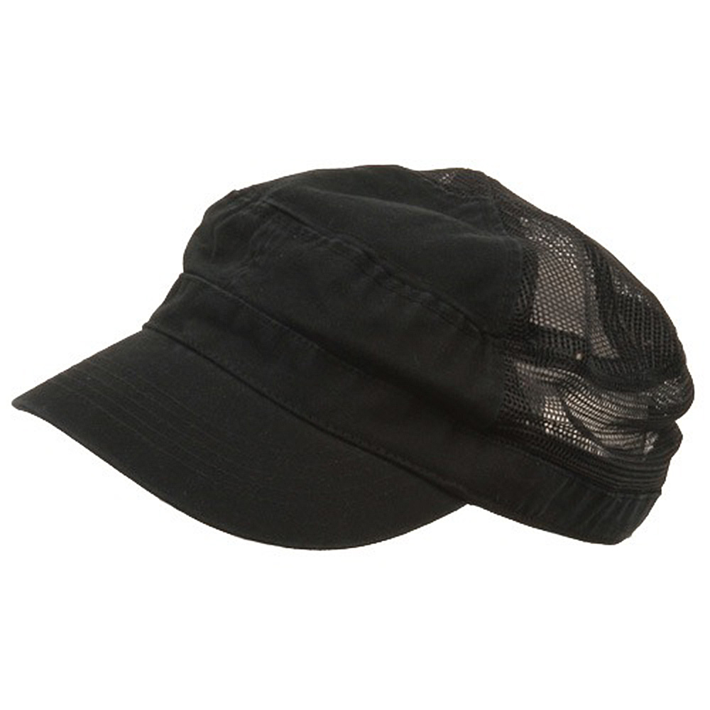 Enzyme Mesh Army Cap-Black - Hats and Caps Online Shop - Hip Head Gear