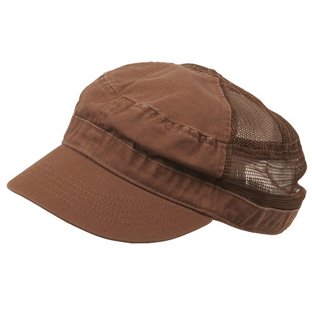 Enzyme Mesh Army Cap-Brown - Hats and Caps Online Shop - Hip Head Gear