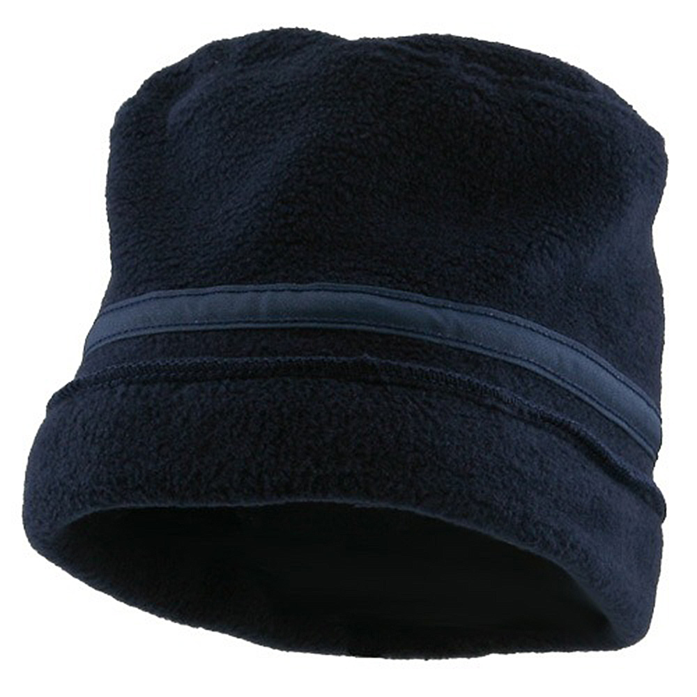 Banded Fleece Winter Cap-Navy - Hats and Caps Online Shop - Hip Head Gear