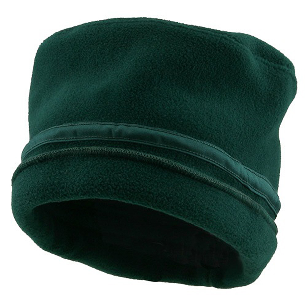 Banded Fleece Winter Cap-Dark Green - Hats and Caps Online Shop - Hip Head Gear