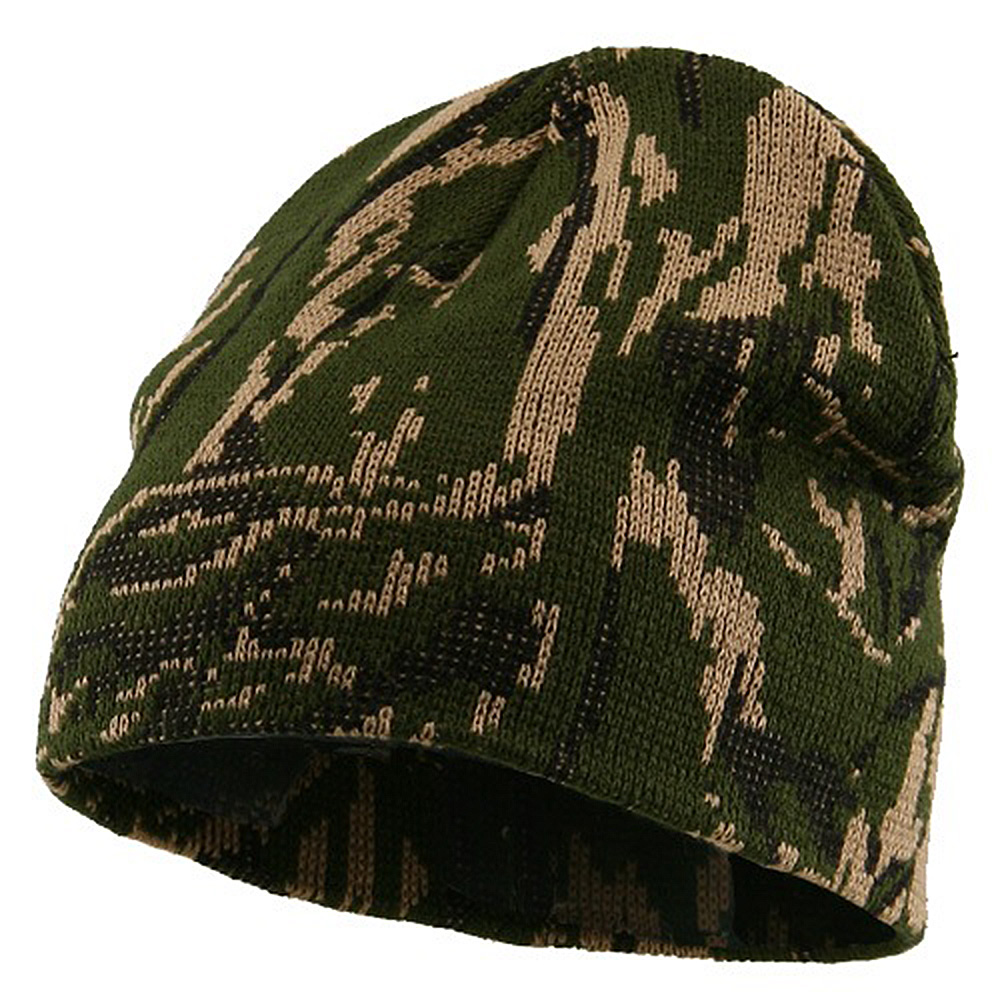 Camo Knit Cap-Forest Green Camo - Hats and Caps Online Shop - Hip Head Gear