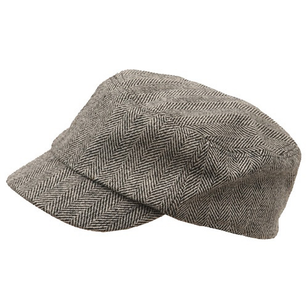 cced239eaaf Wool Fashion Fitted Engineer Cap-Black - Hats and Caps Online Shop - Hip  Head