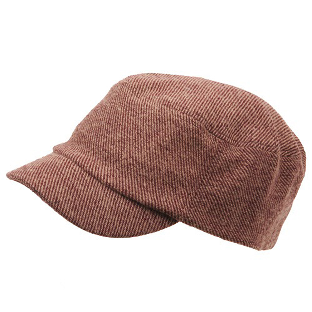 Wool Fashion Fitted Engineer Cap-Maroon - Hats and Caps Online Shop - Hip Head Gear