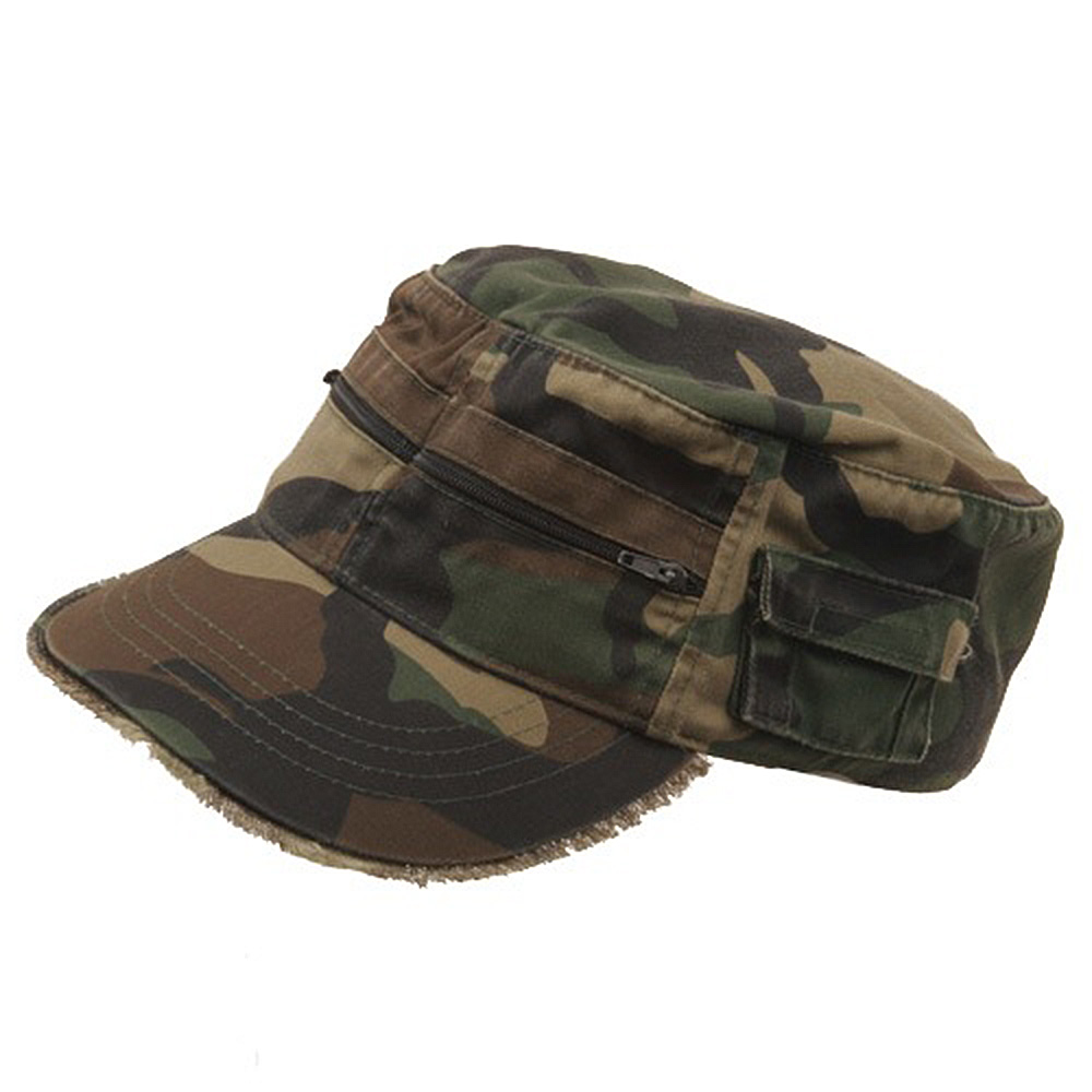 Zippered Enzyme Army Cap-Camo - Hats and Caps Online Shop - Hip Head Gear