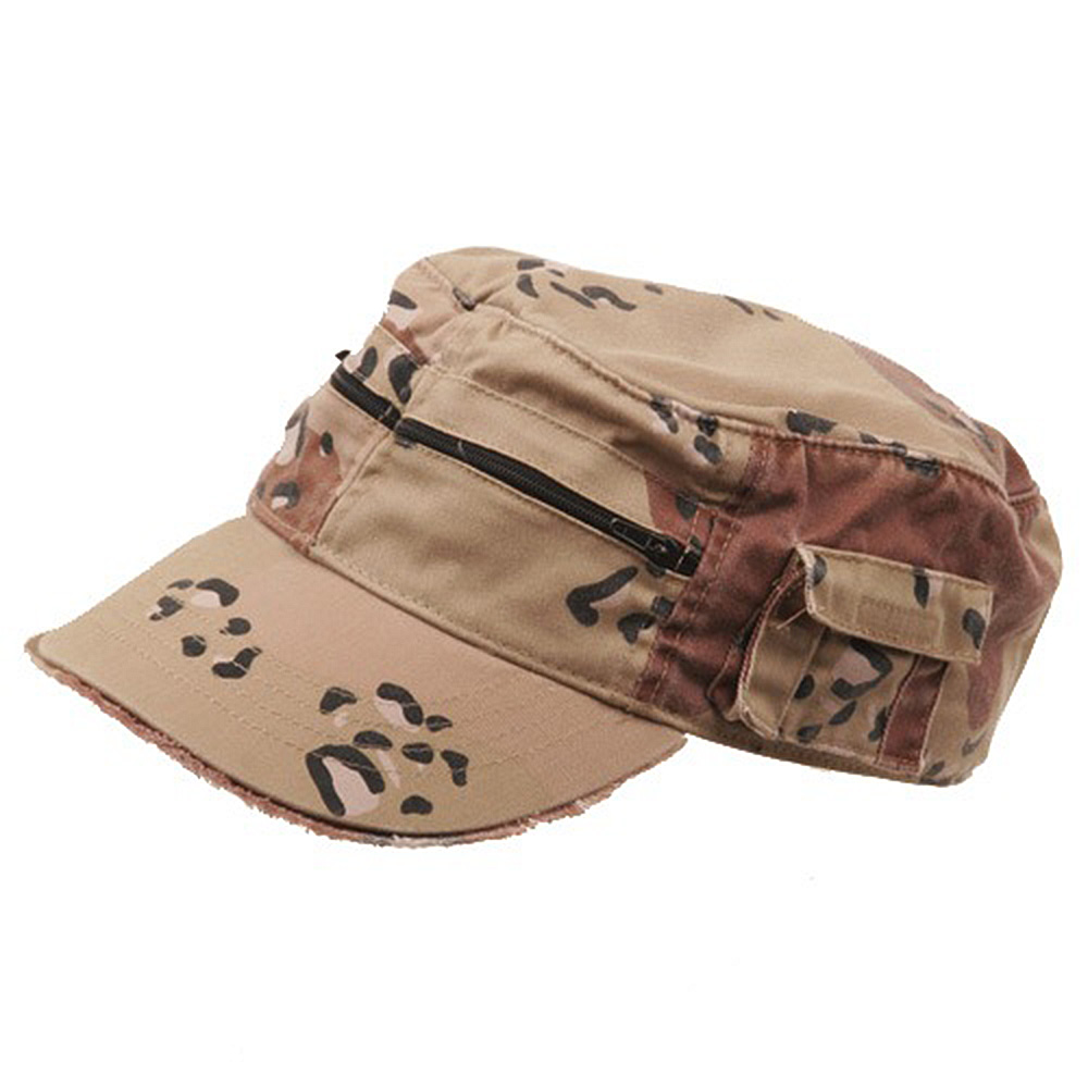 Zippered Enzyme Army Cap-Desert - Hats and Caps Online Shop - Hip Head Gear