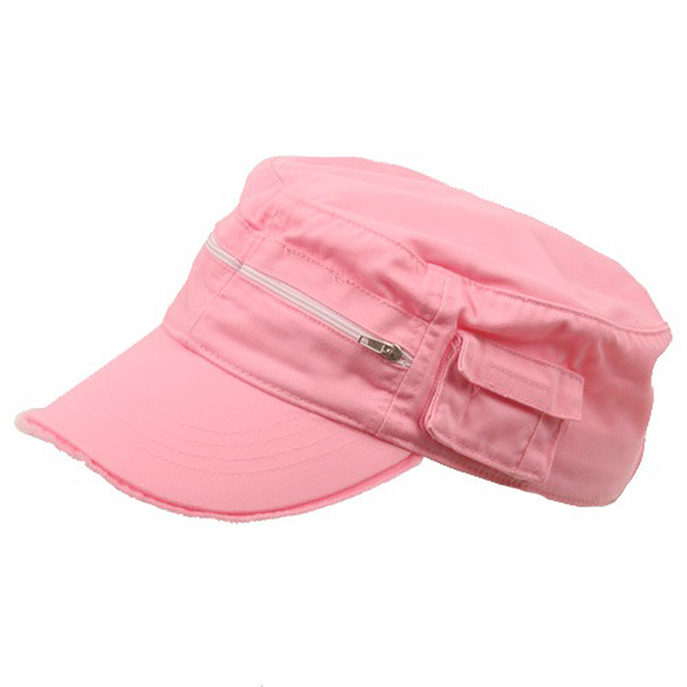 Zippered Enzyme Army Cap-Pink Solid - Hats and Caps Online Shop - Hip Head Gear