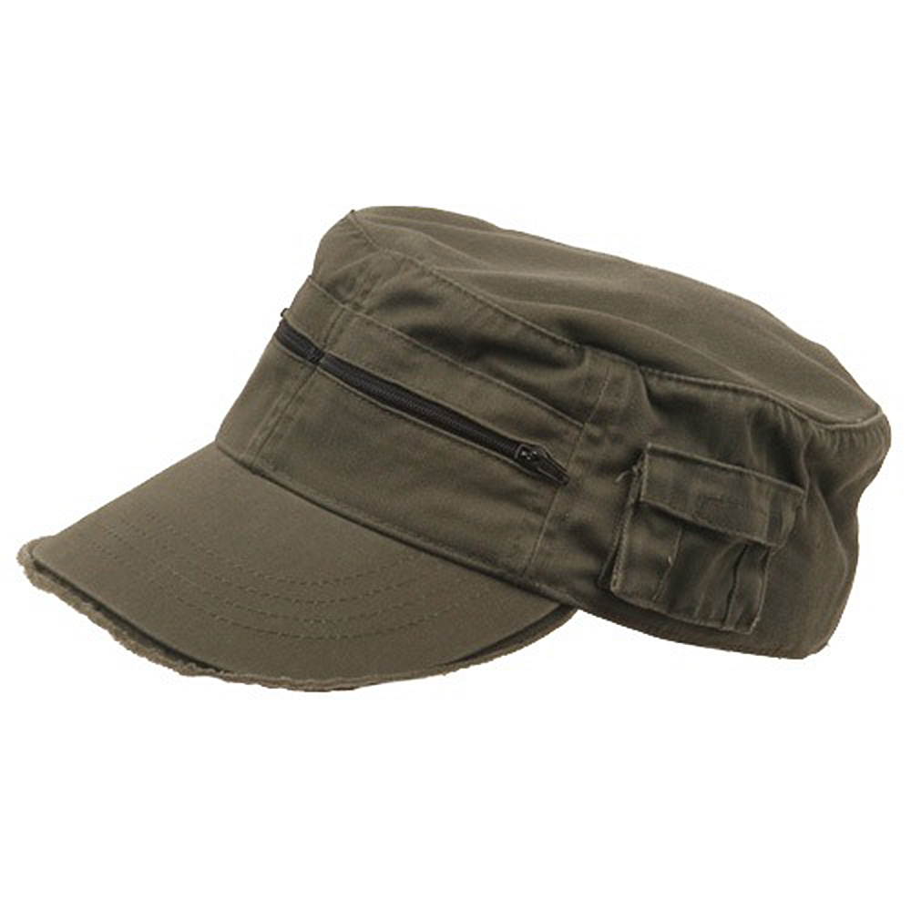 Zippered Enzyme Army Cap-Olive - Hats and Caps Online Shop - Hip Head Gear
