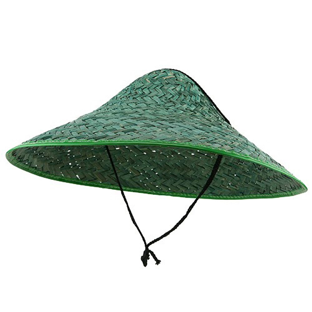 Colored Straw Coolie Hat-Green - Hats and Caps Online Shop - Hip Head Gear
