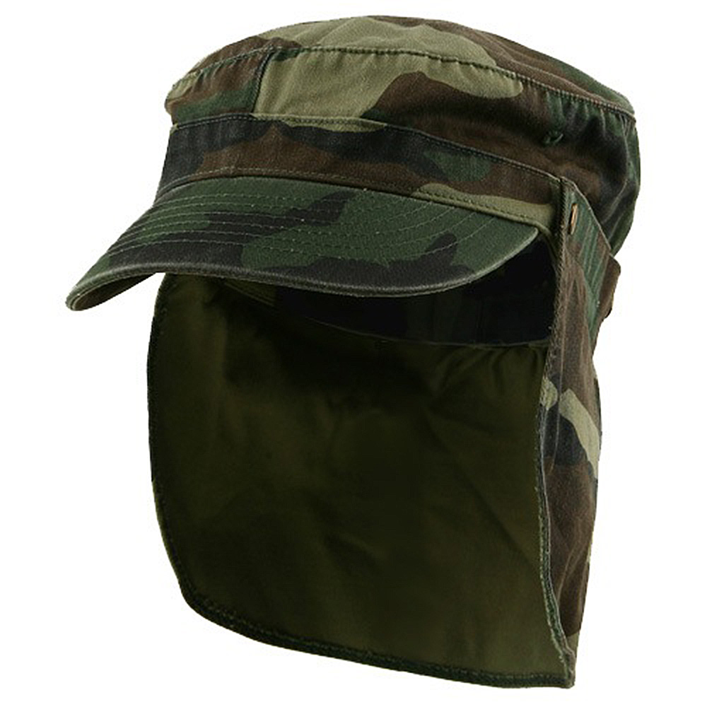 Army Cap with Flap-Camo - Hats and Caps Online Shop - Hip Head Gear
