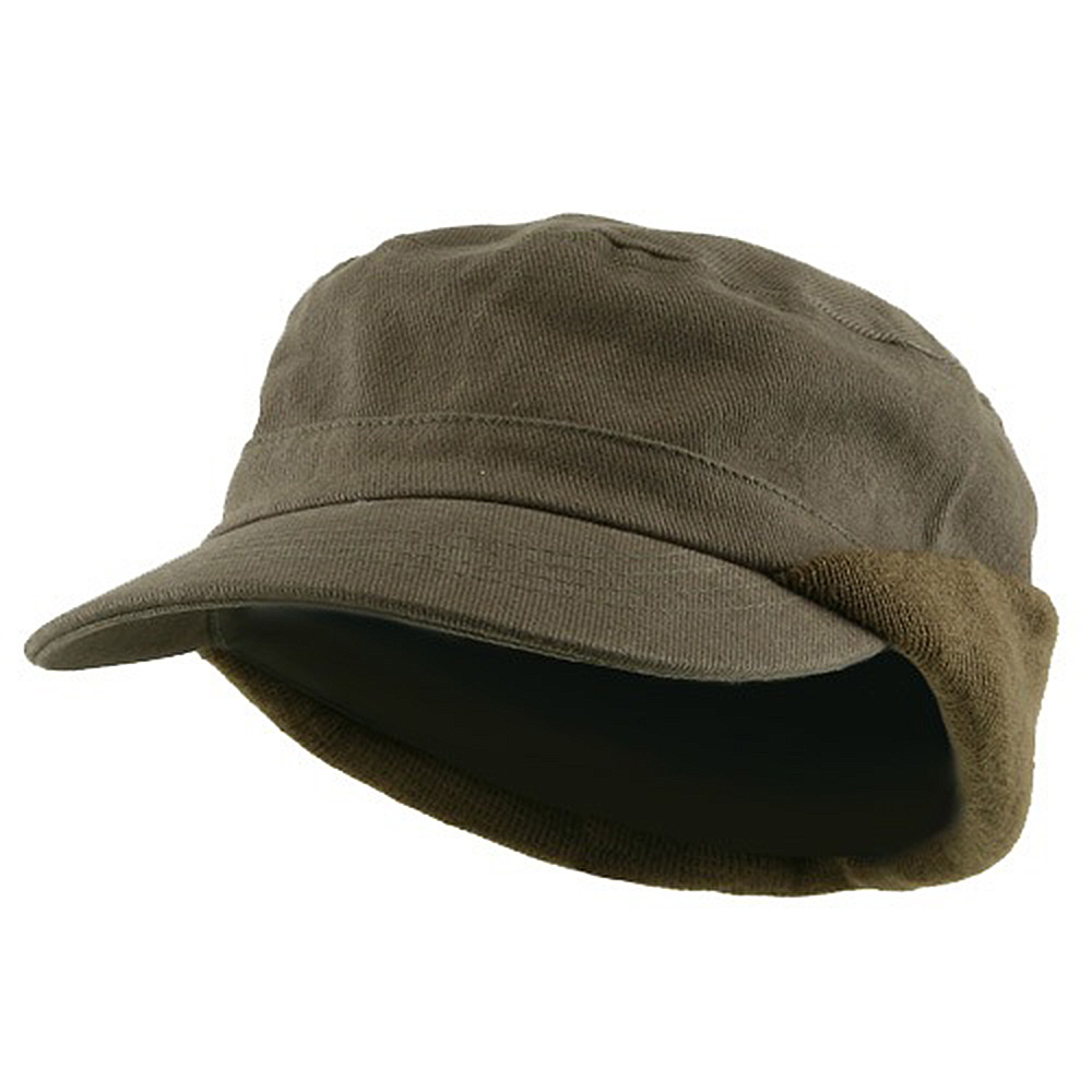 Heavy Brushed Cotton Army Cap-Olive - Hats and Caps Online Shop - Hip Head Gear