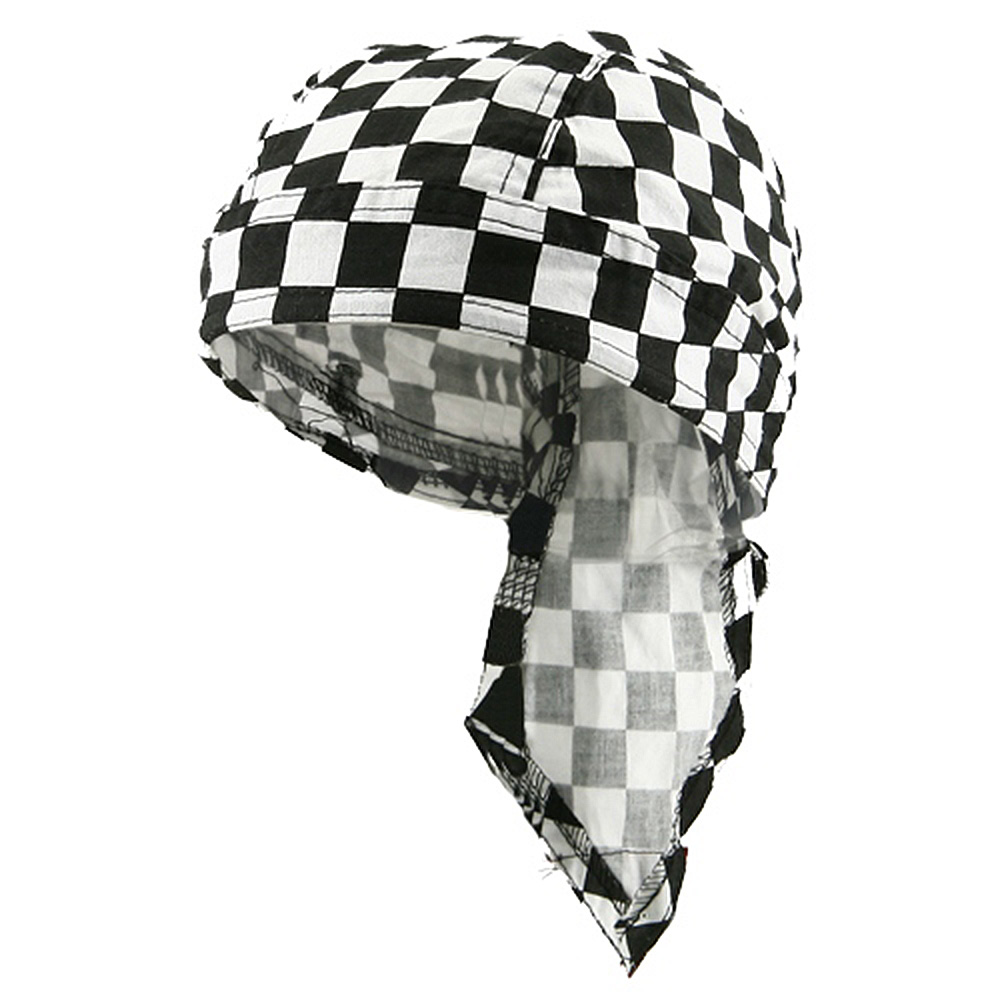 Beach Series Headwrap-Checkered Flag - Hats and Caps Online Shop - Hip Head Gear